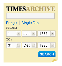 Screenshot: Times Archive